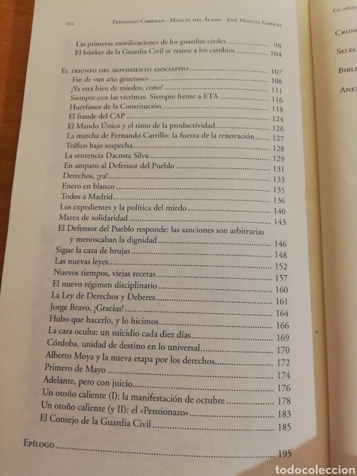Libros de segunda mano: GUARDIAS VALIENTES. HISTORIA DEL SINDICALISMO EN LA GUARDIA CIVIL (1977 - 2009) VV. AA. - Foto 4 - 194330570
