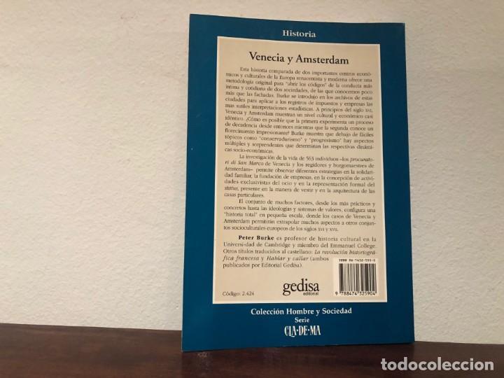 Libros de segunda mano: Venecia y Amsterdam. Estudio sobre las élites del Siglo XVII. Peter Burke Gedisa Editorial. - Foto 2 - 194343228