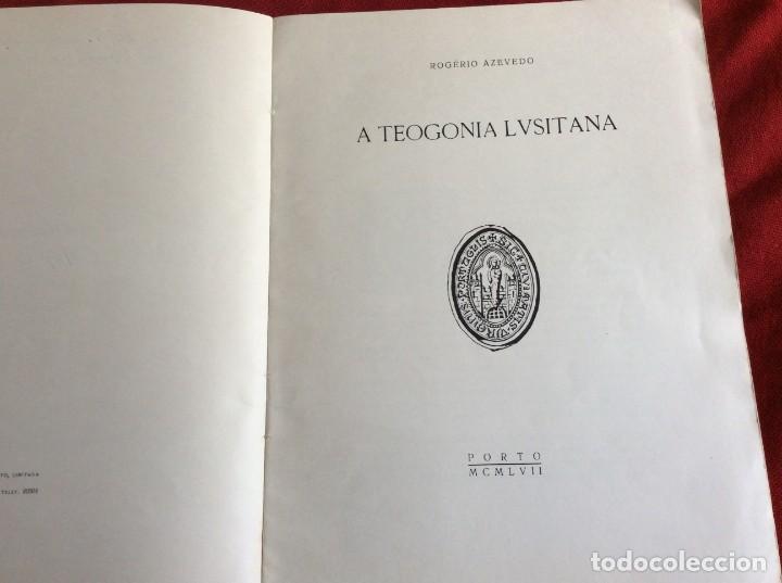 Libros de segunda mano: Teogonía portuguesa. Por Rogério Azevedo. 1947. Firmado. Envio grátis. - Foto 3 - 194508128