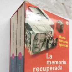 Libros de segunda mano: LA MEMORIA RECUPERADA. DOS TOMOS. IGLESIAS MARÍA ANTONIA. 2005. Lote 194568830