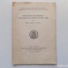 Libros de segunda mano: LIBRERIA GHOTICA. EMILIO GRAHIT. PRINCIPALES DEFENSORES Y SITIADORES DE GERONA EN 1808 Y 1809.1959.. Lote 194702331