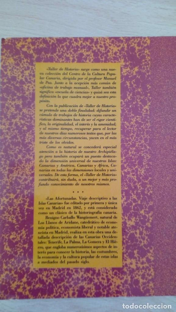 Libros de segunda mano: Las Afortunadas. Benigno Carballo Wangüemert Taller de Historia - Foto 2 - 194734708