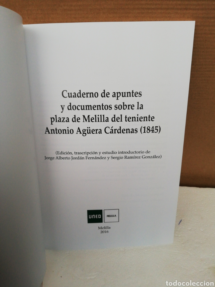Libros de segunda mano: Cuaderno de apuntes y documentos sobre la plaza de Melilla el teniente Antonio Agüera Cárdenas - Foto 3 - 194876583