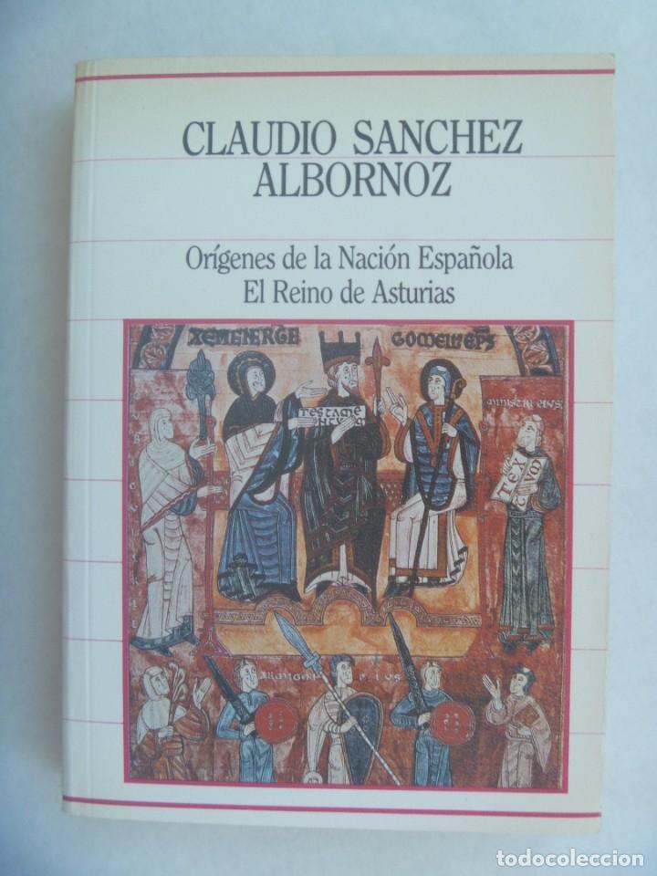 ORIGENES DE LA NACION ESPAÑOLA , EL REINO DE ASTURIAS. DE CLAUDIO SANCHEZ ALBORNOZ. 1985 (Libros de Segunda Mano - Historia Moderna)