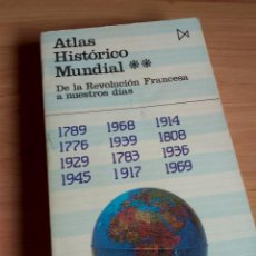 Libros de segunda mano: ATLAS HISTORICO MUNDIAL. DE LA REVOLUCIÓN FRANCESA A NUESTROS DÍAS. KINDER Y HILGEMANN ED 1988 ITSMO. Lote 194905098