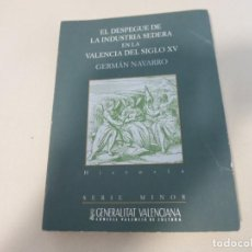 Libros de segunda mano: EL DESPEGUE DE LA INDUSTRIA SEDERA EN LA VALENCIA DEL SIGLO XV. - NAVARRO ESPINACH, GERMÁN. Lote 194989786