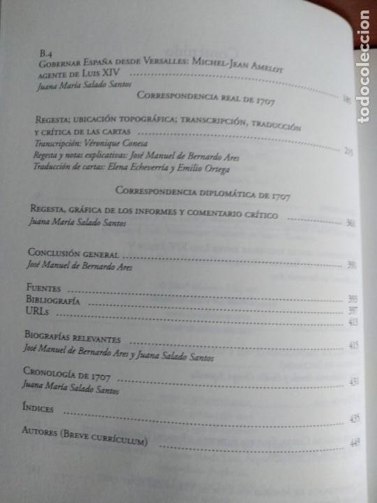 Libros de segunda mano: Las Cortes de Madrid y Versalles en el año 1707 / Jose Manuel de Bernardo Ares y Elena Echevarría - Foto 3 - 195300005