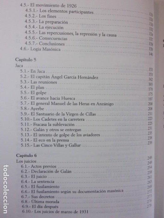 Libros de segunda mano: FERMÍN GALÁN RODRÍGUEZ. EL CAPITÁN QUE SUBLEBO JACA / FERNANDO MARTÍNEZ DE BAÑOS CARRILLO - Foto 4 - 195366515