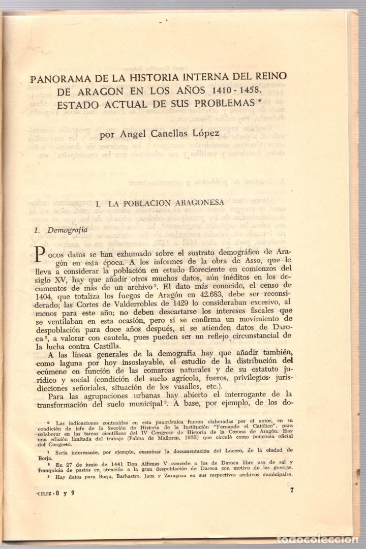 Libros de segunda mano: PANORAMA DE LA HISTORIA INTERNA DEL REINO DE ARAGON EN LOS AÑOS 1410-1458. ANGEL CANELLAS LOPEZ 1959 - Foto 2 - 195369381