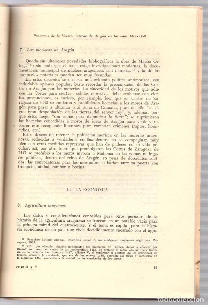 Libros de segunda mano: PANORAMA DE LA HISTORIA INTERNA DEL REINO DE ARAGON EN LOS AÑOS 1410-1458. ANGEL CANELLAS LOPEZ 1959 - Foto 3 - 195369381