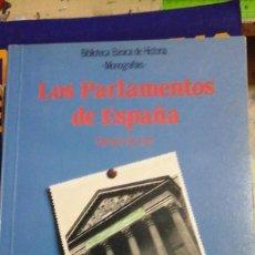 Libros de segunda mano: LOS PARLAMENTOS EN ESPAÑA (MADRID, 1991). Lote 195420986
