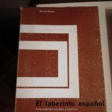 Libros de segunda mano: EL LABERINTO ESPAÑOL POR GERALD BRENAN. Lote 195653155