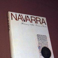 Libros de segunda mano: NAVARRA. HISTORIA Y ARTE. TIERRAS Y GENTES. CAJA DE AHORROS DE NAVARRA. PAMPLONA, 1984.. Lote 195754980