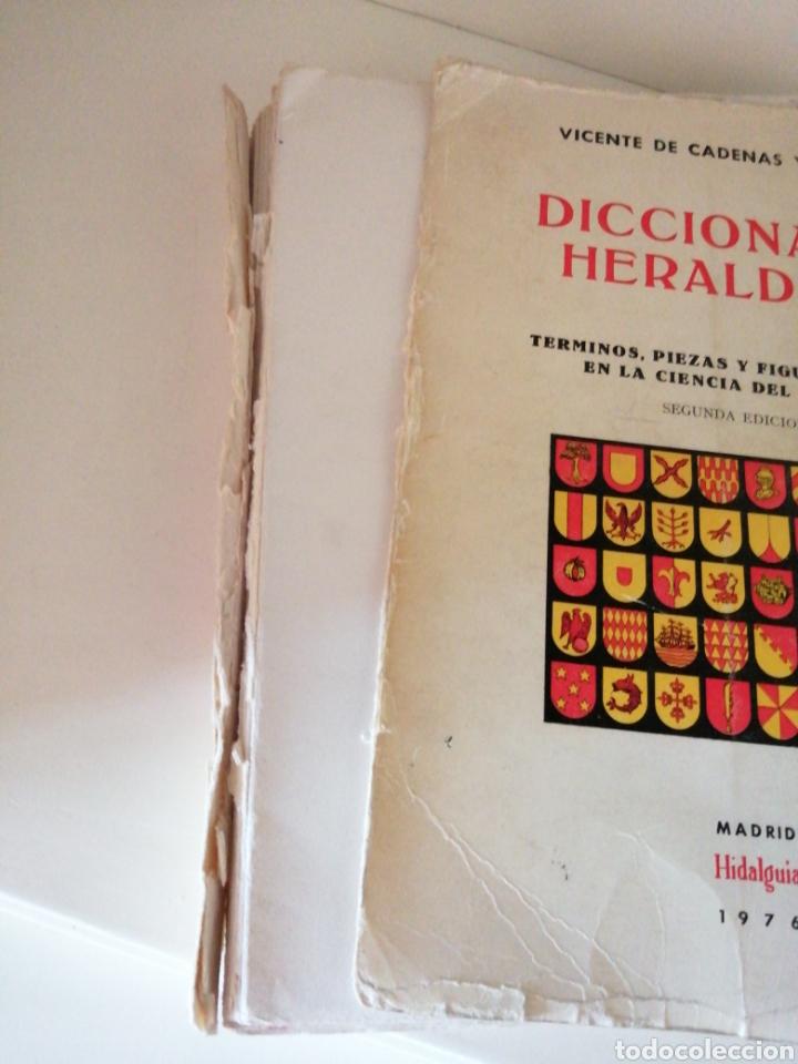 Libros de segunda mano: Diccionario heráldico.Términos piezas y figuras usadas en la ciencia del blasón.Vicente de Cadenas y - Foto 2 - 196194638