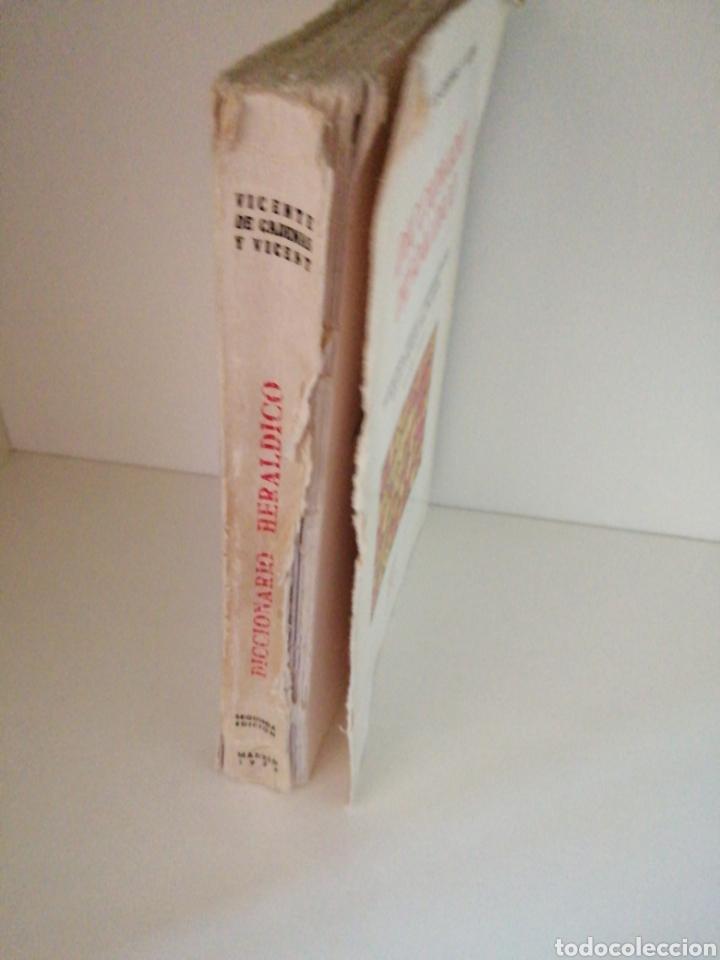 Libros de segunda mano: Diccionario heráldico.Términos piezas y figuras usadas en la ciencia del blasón.Vicente de Cadenas y - Foto 3 - 196194638