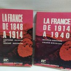 Libros de segunda mano: LA FRANCE DE 1848 A 1914, LIBROS HISTORIA EN FRANCES.. Lote 198761977