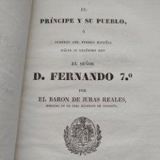 Libros de segunda mano: EL PRINCIPE Y SU PUEBLO - EL BARON DE LAS JURAS REALES, LUIS MARIA MOXÓ.. Lote 201529021