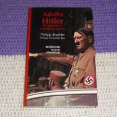 Libros de segunda mano: ADOLF HITLER -. Lote 204588558