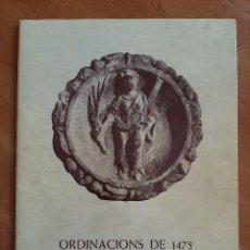Libros de segunda mano: 1975 ORDINACIONS DE 1475 EN L ´HOSPITALET DE LLOBREGAT. Lote 205645106
