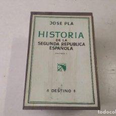 Libros de segunda mano: HISTORIA DE LA SEGUNDA REPÚBLICA ESPAÑOLA - JOSE PLA - 4 VOLÚMENES CON CAJA. Lote 205679435