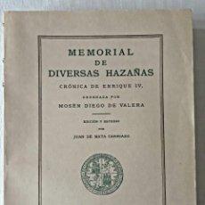 Libros de segunda mano: CRONICA DE ENRIQUE IV. ESTUDIO DE J. DE MATA CARRIAZO. Lote 205728431
