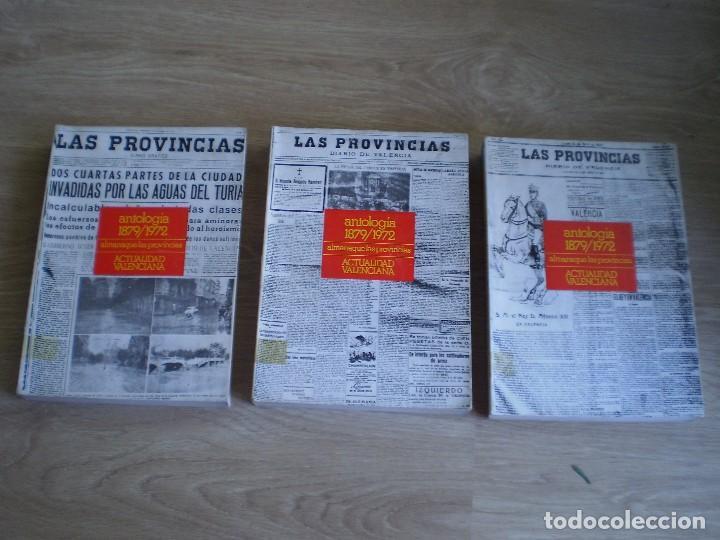 3 LIBROS ANTOLOGIA LAS PROVINCIAS. ALMANAQUE. OCASION. ENVIO CERT. A PENINSULA 6 EUROS. (Libros de Segunda Mano - Historia Moderna)