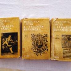 Libros de segunda mano: HISTORIA DE LA LITERATURA ESPAÑOLA. JUAN LUIS ALBORG. TOMOS I, II, III. SEGUNDA EDICIÓN. GREDOS 1972. Lote 208677215