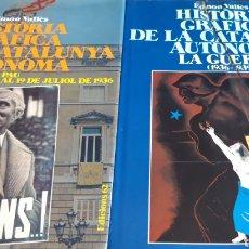 Libros de segunda mano: HISTÒRIA GRÀFICA DE LA CATALUNYA AUTÒNOMA LA PAU- LA GUERRA (1931-1939) E. VALLÈS. 2 VOL 1ª EDICIÓ.. Lote 209126802