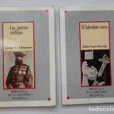 Libros de segunda mano: DOS LIBROS DE LA COLECCIÓN BIBLIOTECA DE LA HISTORIA DE ESPAÑA, Nº 2 Y Nº10. Lote 210132392