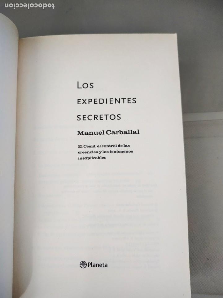 Libros de segunda mano: Los Expedientes Secretos - Manuel Carballal. Buscado - Foto 2 - 211760236