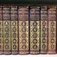 Libros de segunda mano: HISTORIA DE ESPAÑA Y SU INFLUENCIA EN LA HISTORIA UNIVERSAL ANTONIO BALLESTEROS Y BERETTA 12 TOMOS. Lote 213628122