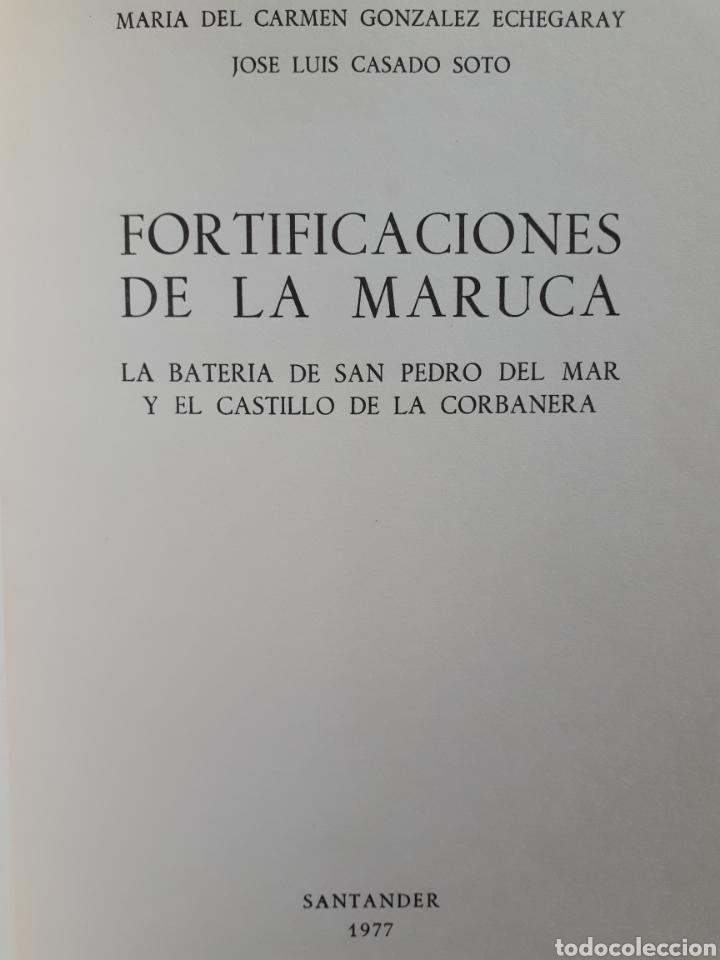 Libros de segunda mano: FORTIFICACIONES DE LA MARUCA. La Batería de San Pedro del Mar y el Castillo de la Corbanera. 1977 - Foto 3 - 214013135