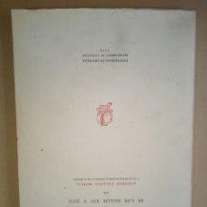 Libros de segunda mano: CINCO IMPRESORES GRANADINOS DE LOS SIGLOS XVI Y XVII. 1970. ANTONIO GALLEGO MORELL.. Lote 214753756