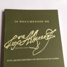 Libros de segunda mano: 16 DOCUMENTOS DE PEDRO TEXEIRA . . HISTORIA ARTE XVII. Lote 214889358