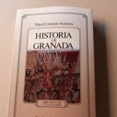 Libros de segunda mano: HISTORIA DE GRANADA MIGUEL LAFUENTE ALCÁNTARA TOMO II 1992. Lote 214934252