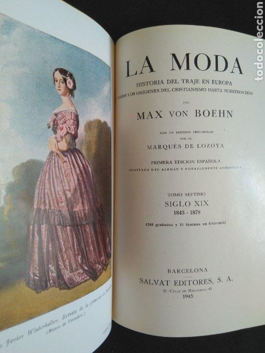 LA MODA DE MAX VON BOEHN. TOMO 7, SIGLO XIX, (1843-1878) - MUY BUEN ESTADO (Libros de Segunda Mano - Historia Moderna)