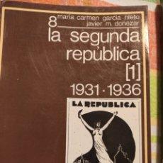 Libros de segunda mano: LA SEGUNDA REPÚBLICA 1 Y 2 - BASES DOCUMENTALES DE LA ESPAÑA CONTEMPORÁNEA. Lote 217729637