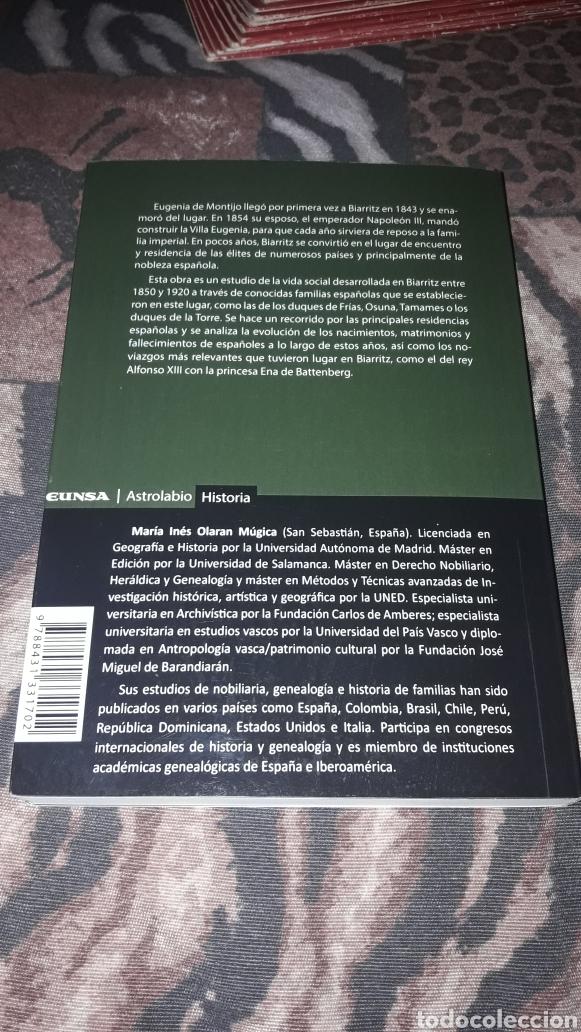 Libros de segunda mano: María Inés Olaran Mugica. Nobleza Española en Biarritz. Edicion de 2017. Raro. Dani. - Foto 2 - 218064060