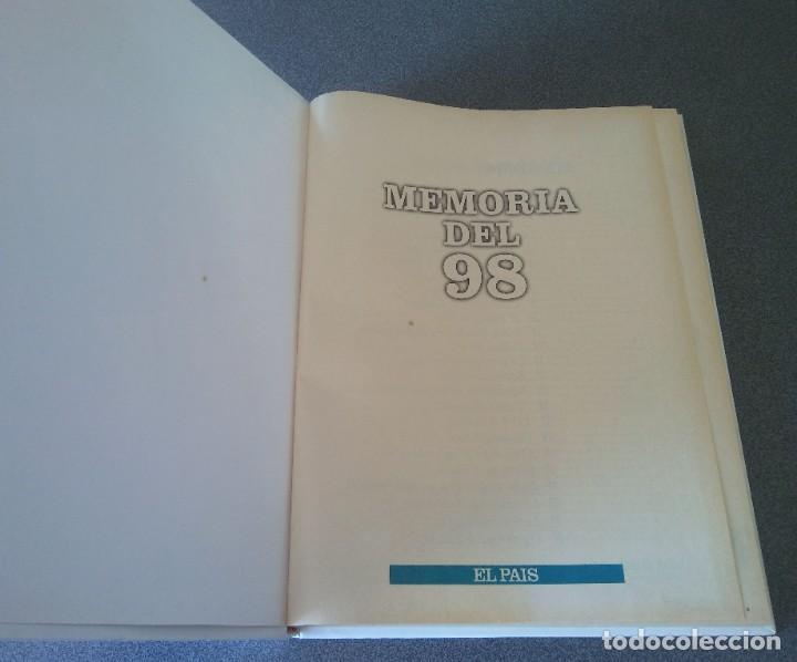 Libros de segunda mano: Memoria del 98 De la Guerra de Cuba a la Semana Trágica - Foto 4 - 218074593