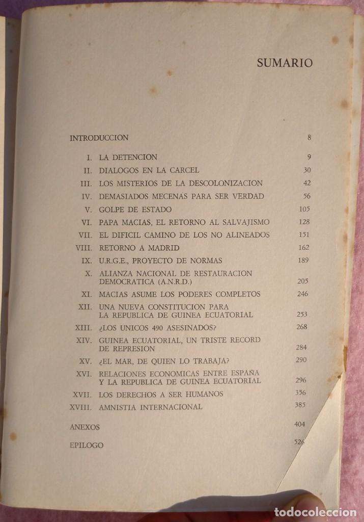 Libros de segunda mano: Guinea, Materia Reservada – Rafael Fernández (Sedmay, 1976) /// ÁFRICA COLONIALISMO COLONIZACIÓN - Foto 3 - 218102303