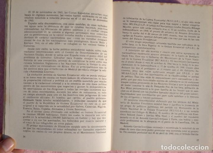 Libros de segunda mano: Guinea, Materia Reservada – Rafael Fernández (Sedmay, 1976) /// ÁFRICA COLONIALISMO COLONIZACIÓN - Foto 8 - 218102303