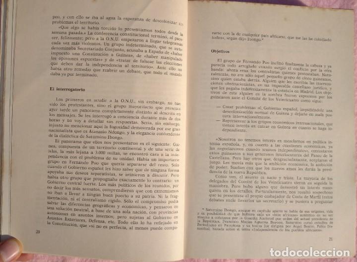 Libros de segunda mano: Guinea, Materia Reservada – Rafael Fernández (Sedmay, 1976) /// ÁFRICA COLONIALISMO COLONIZACIÓN - Foto 9 - 218102303