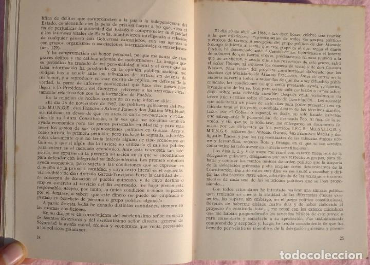 Libros de segunda mano: Guinea, Materia Reservada – Rafael Fernández (Sedmay, 1976) /// ÁFRICA COLONIALISMO COLONIZACIÓN - Foto 10 - 218102303