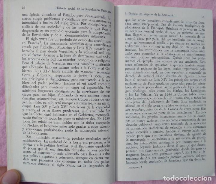 Libros de segunda mano: Historia Social de la Revolución Francesa – Norman Hampson (Alianza, 1970) /// NAPOLEÓN EUROPA - Foto 5 - 218102617
