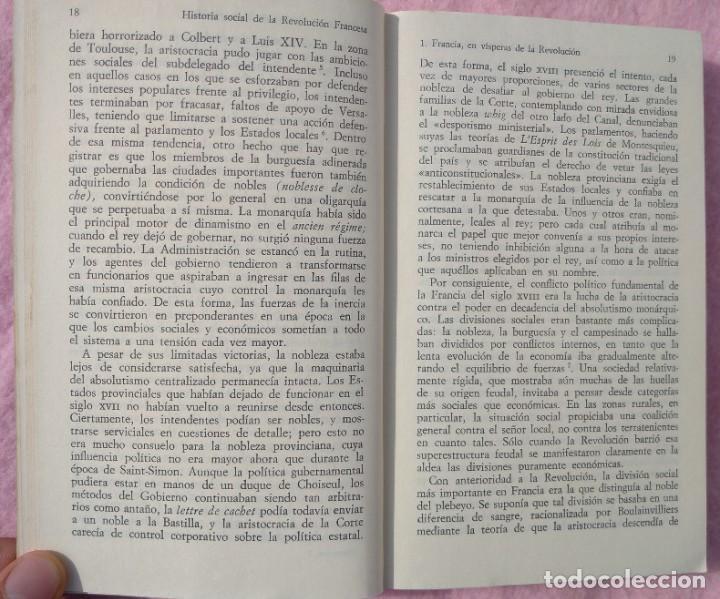 Libros de segunda mano: Historia Social de la Revolución Francesa – Norman Hampson (Alianza, 1970) /// NAPOLEÓN EUROPA - Foto 6 - 218102617