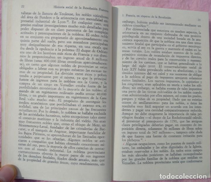 Libros de segunda mano: Historia Social de la Revolución Francesa – Norman Hampson (Alianza, 1970) /// NAPOLEÓN EUROPA - Foto 8 - 218102617