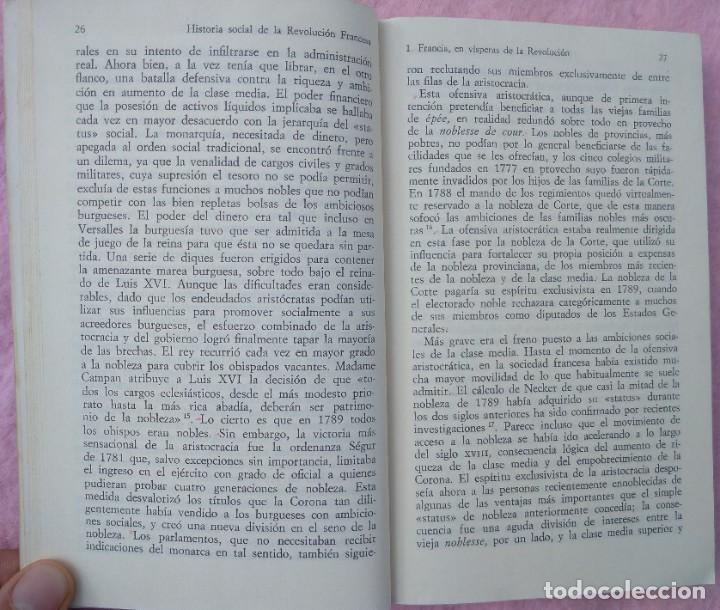 Libros de segunda mano: Historia Social de la Revolución Francesa – Norman Hampson (Alianza, 1970) /// NAPOLEÓN EUROPA - Foto 10 - 218102617