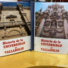 Libros de segunda mano: 1989.- HISTORIA DE LA UNIVERSIDAD DE VALLADOLID. OBRA MONUMENTAL.. Lote 218472828