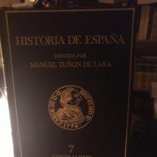 Libros de segunda mano: MANUEL TUÑÓN. HISTORIA DE ESPAÑA 7. LABOR 1989. Lote 218940493