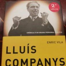 Libros de segunda mano: LIBRO LLUIS COMPANYS. Lote 219304955
